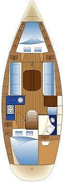 Bavaria 30 Cruiser - layout interno