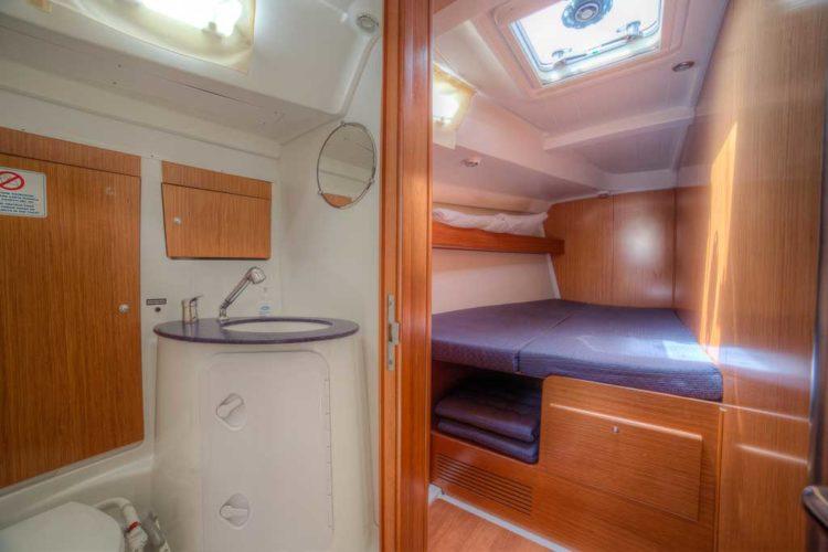 Bénéteau Cyclades 50.5 - bagno di poppa a tribordo