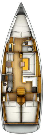 Jeanneau Sun Odyssey 409 - layout interno