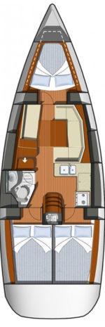 Jeanneau Sun Odyssey 36i - layout interno