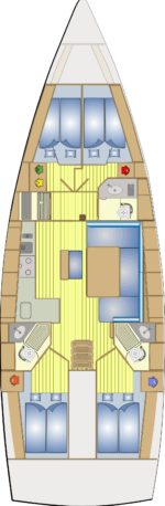Bavaria 46 Cruiser - layout interno