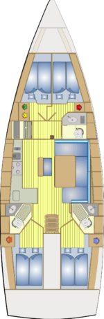 Bavaria 46 Cruiser - layout interno