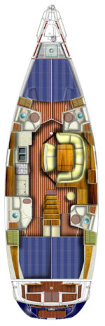Jeanneau Sun Odyssey 49 - layout interno