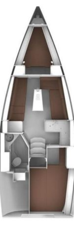 Bavaria 34 Cruiser - layout interno